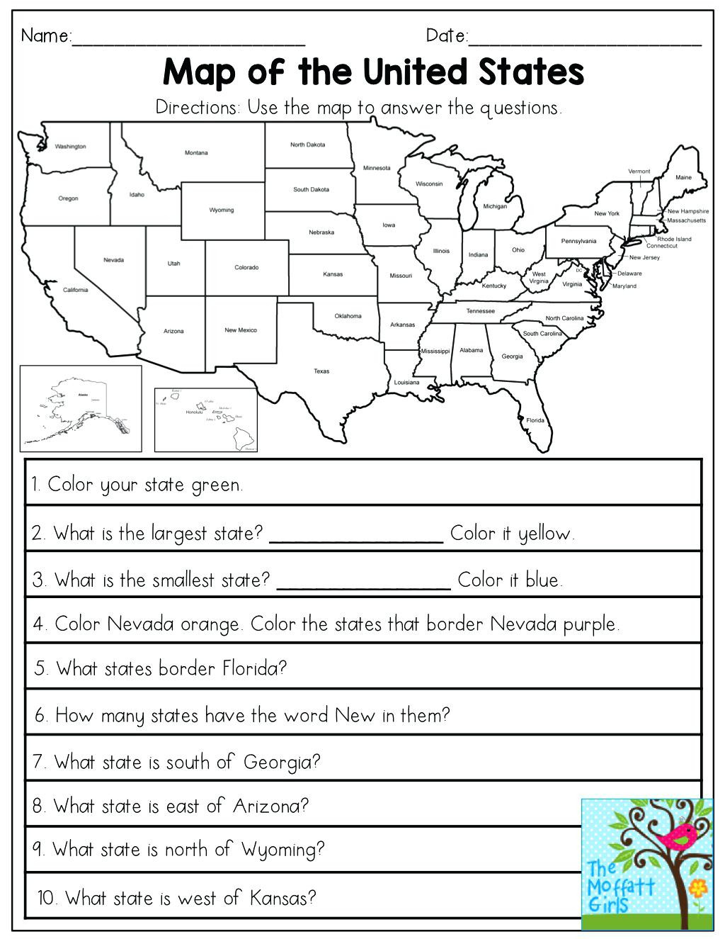 Map Scale Worksheet 3rd Grade Map Skills Worksheets for Print Map Skills Worksheets