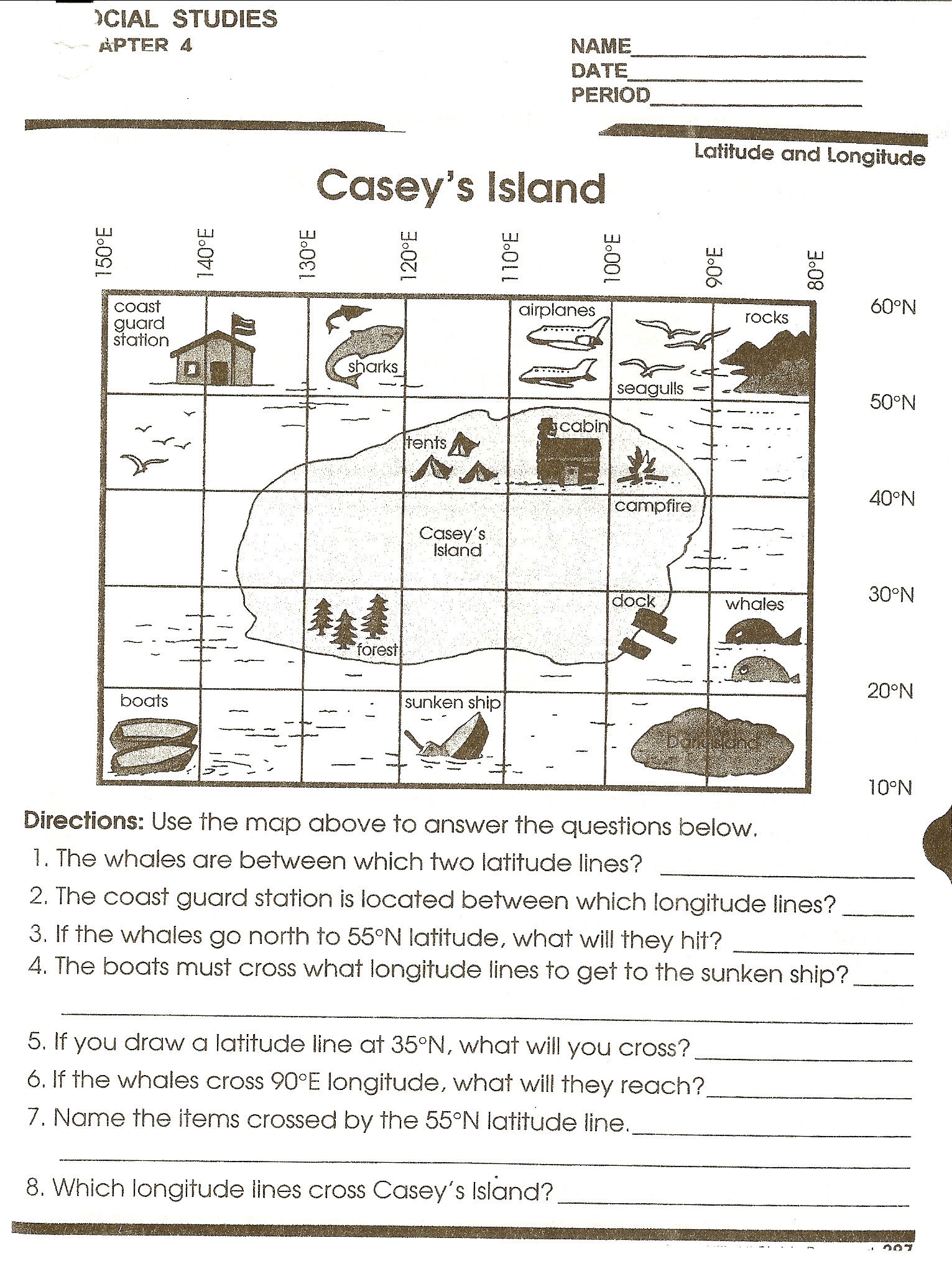Map Scale Worksheet 4th Grade Using Scale A Map Worksheet