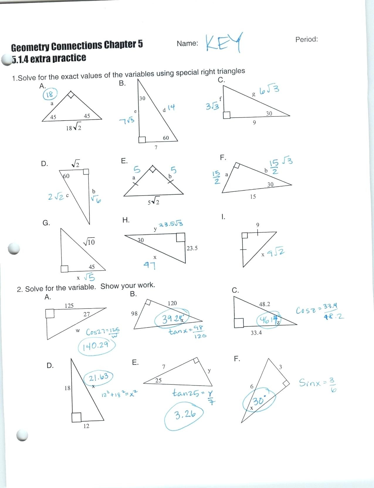 Math Aids Compound Shapes Inverse Trig Functions Worksheet with Answers Nidecmege