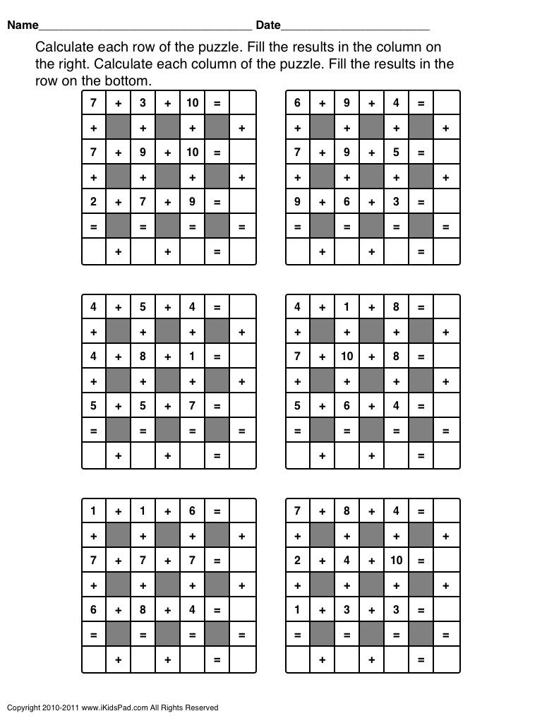 Middle School Math Puzzles Printable Fun Math Worksheets for 3rd Worksheet Grade Telling Time