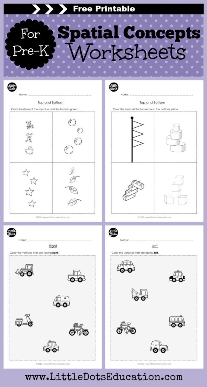 Middle School Math Puzzles Printable Pre Spatial Concepts Worksheets and Activities Basic In
