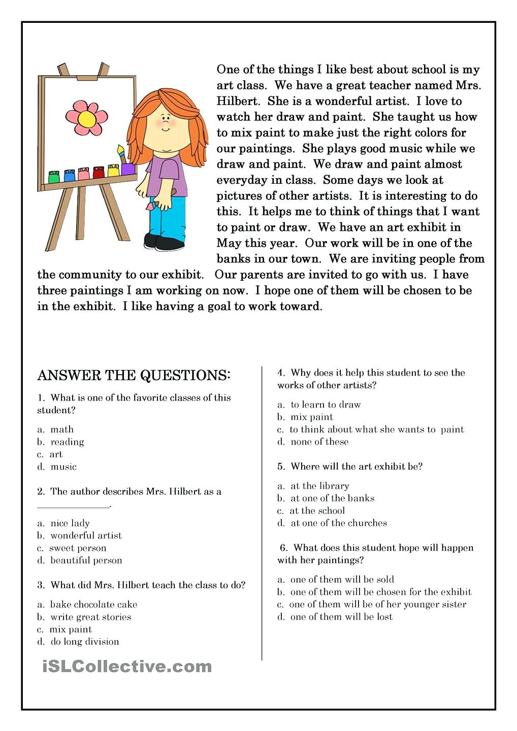 Middle School Science Worksheets Pdf Reading Prehension Middle School Free Reading