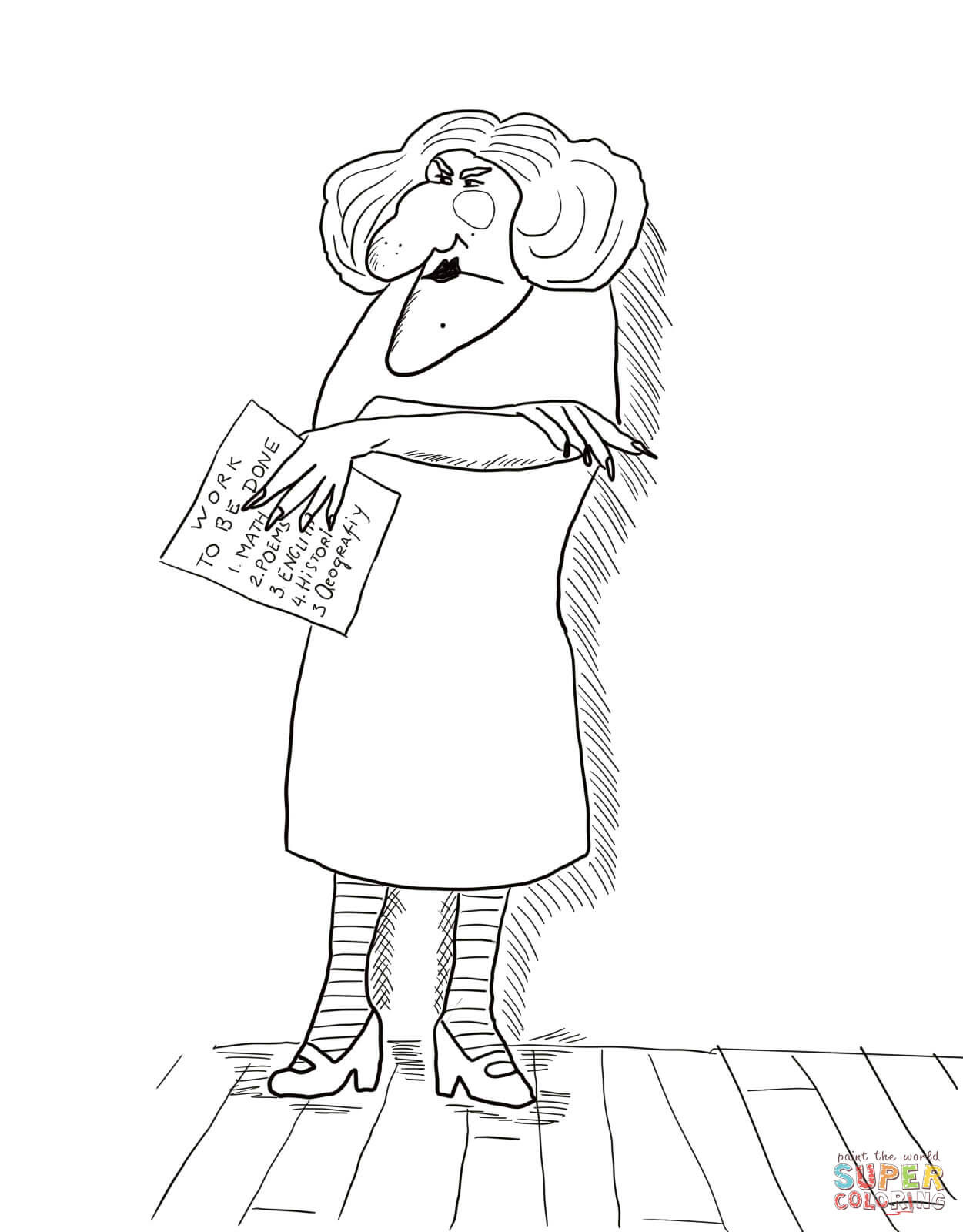 Miss Nelson is Missing Printables Miss Viola Swamp Coloring Page