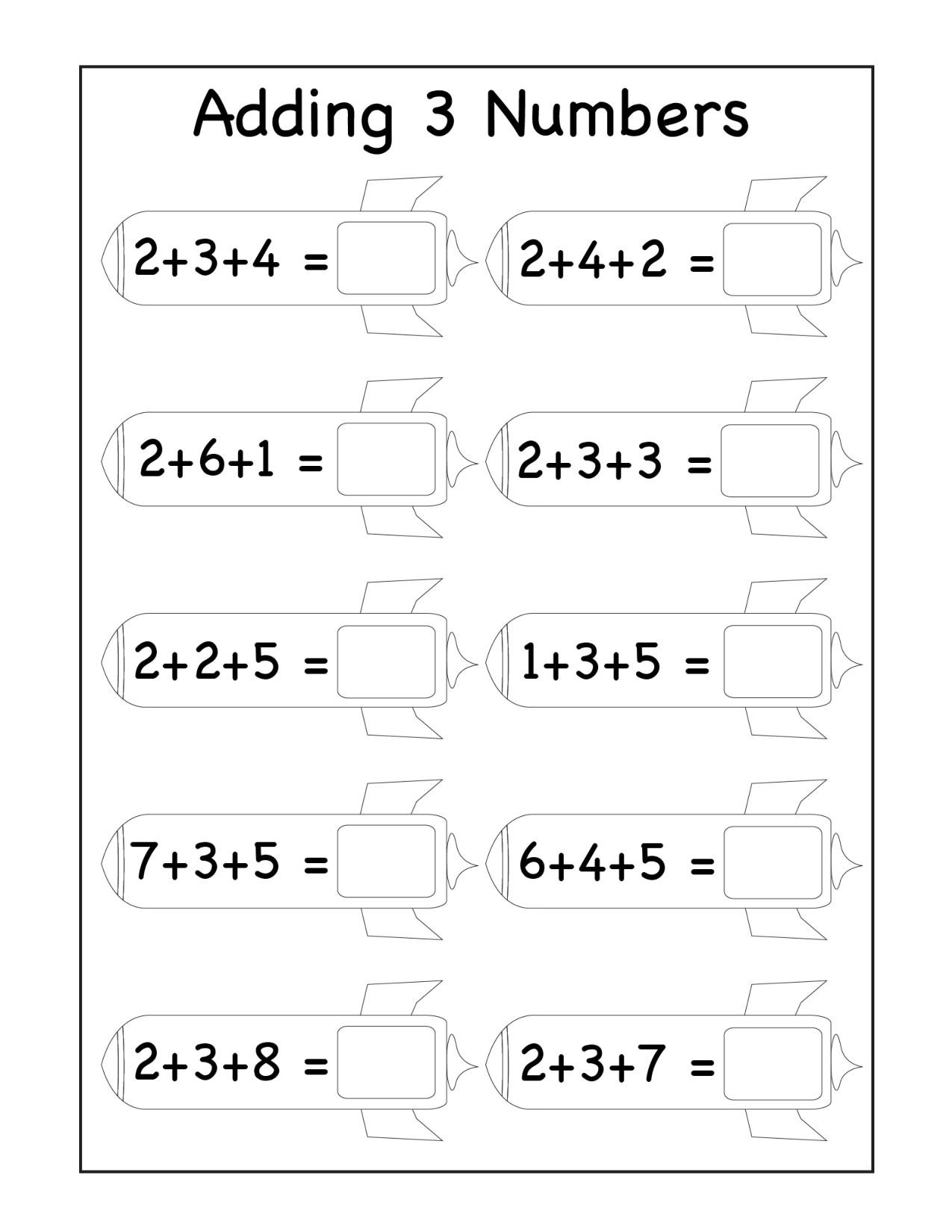 Missing Addends Worksheets First Grade 1st Grade Archives Page 4 Of 13