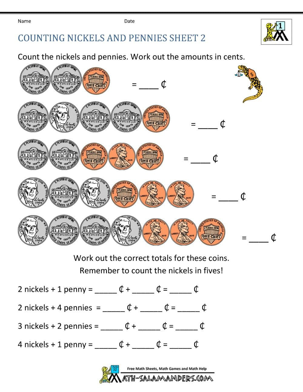 Money Worksheets for 3rd Grade 4 Free Math Worksheets Third Grade 3 Counting Money Math