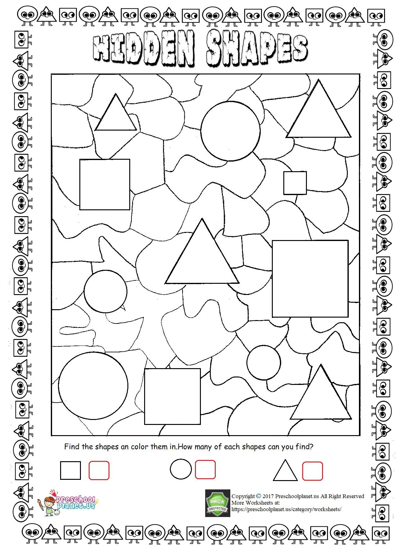 Number Pattern Worksheets 5th Grade Geometric Shapes Patterns Worksheets Printable and Nets