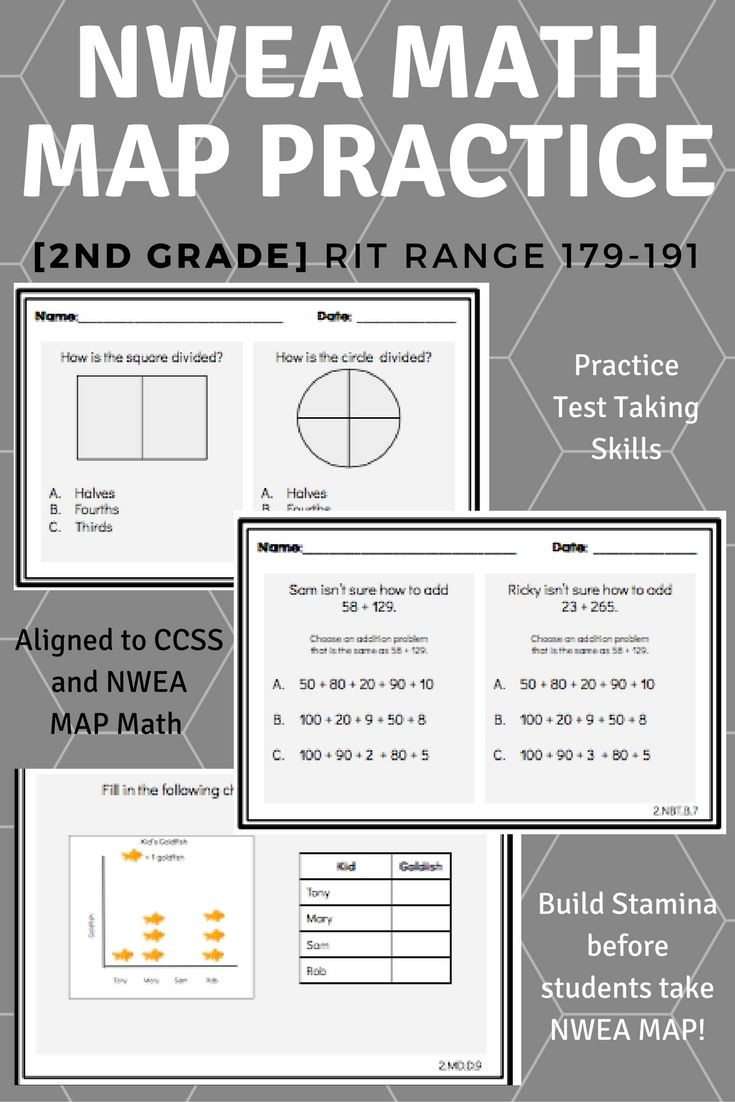 Nwea Math Practice Worksheets 2nd Grade Nwea Map Math Practice Questions [rit 171 191