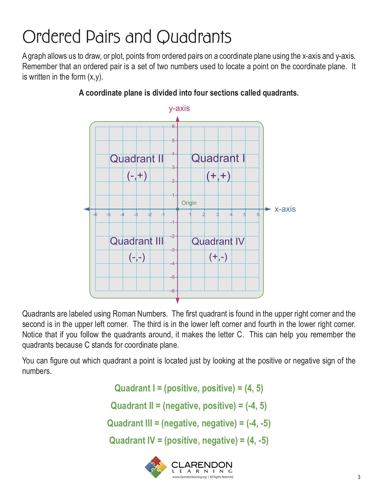 Ordered Pairs Worksheet 5th Grade ordered Pairs and Quadrants Lesson Plan