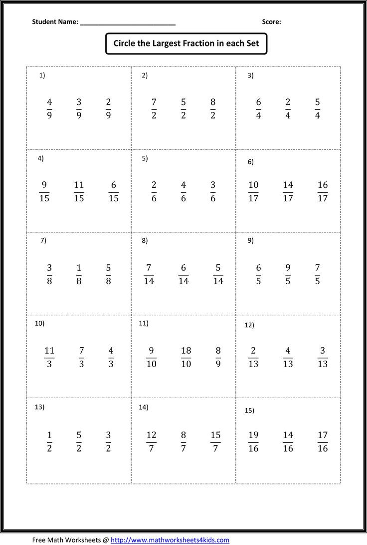 Ordering Fractions Worksheet 4th Grade ordering Fractions From Least to Greatest Worksheet