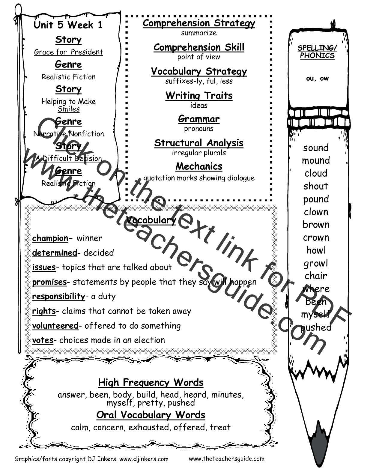 Ou Ow Worksheets 2nd Grade Home Work Falcon Ridge Elementary