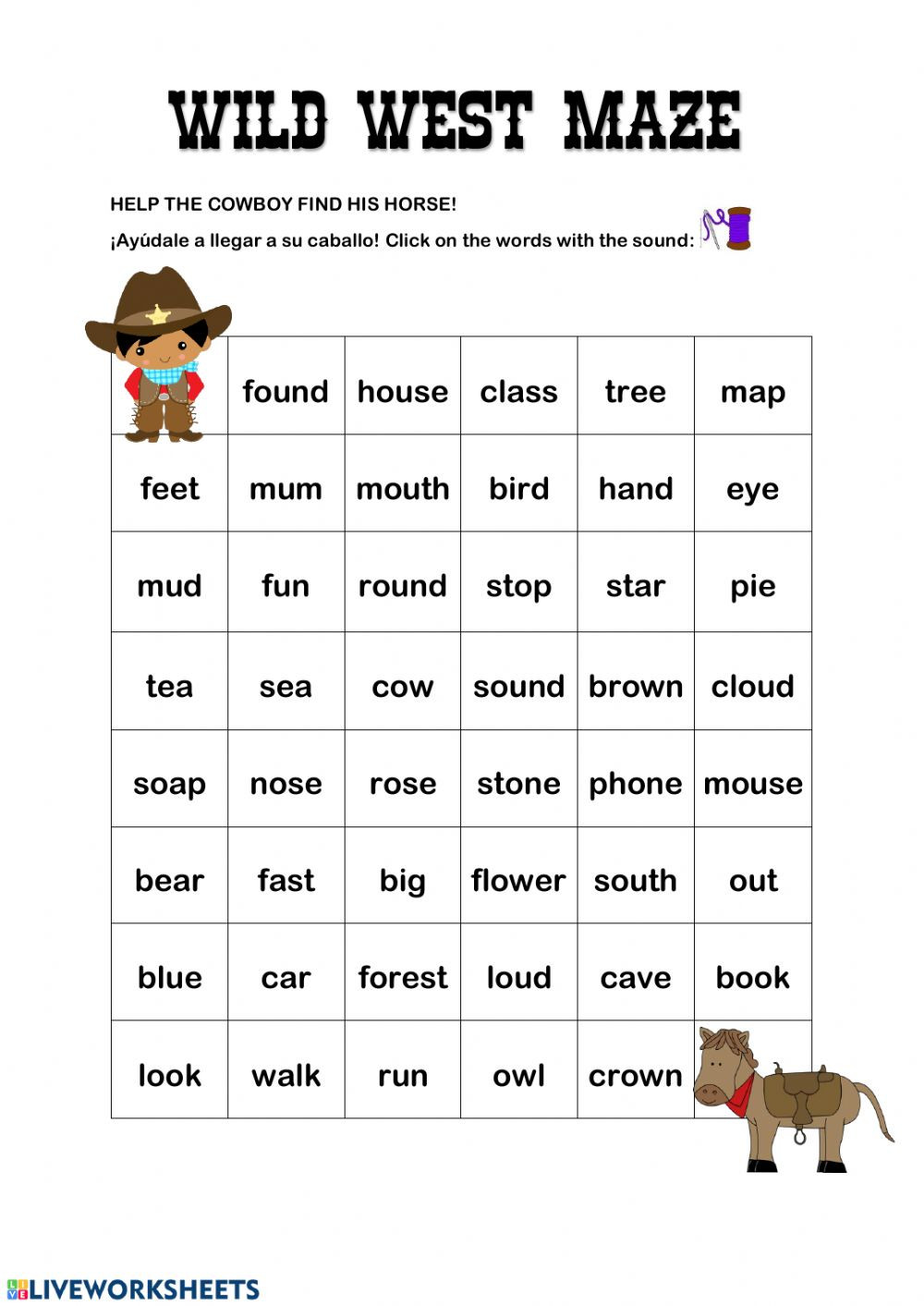 Ou Ow Worksheets 2nd Grade Ou Ow Words Interactive Worksheet