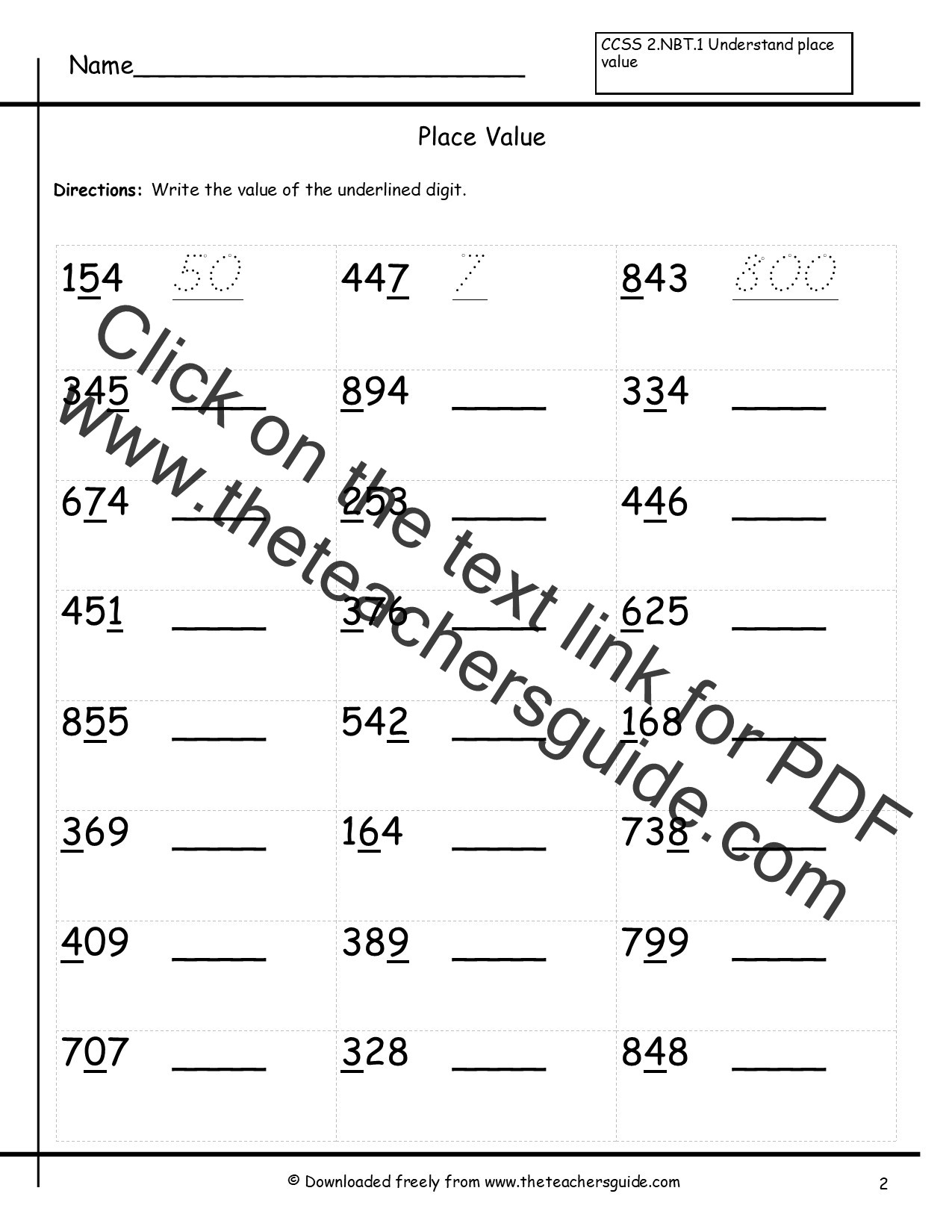 Place Value Worksheet 3rd Grade Mrs Garay S Place Value for Third Grade Lessons Tes Teach