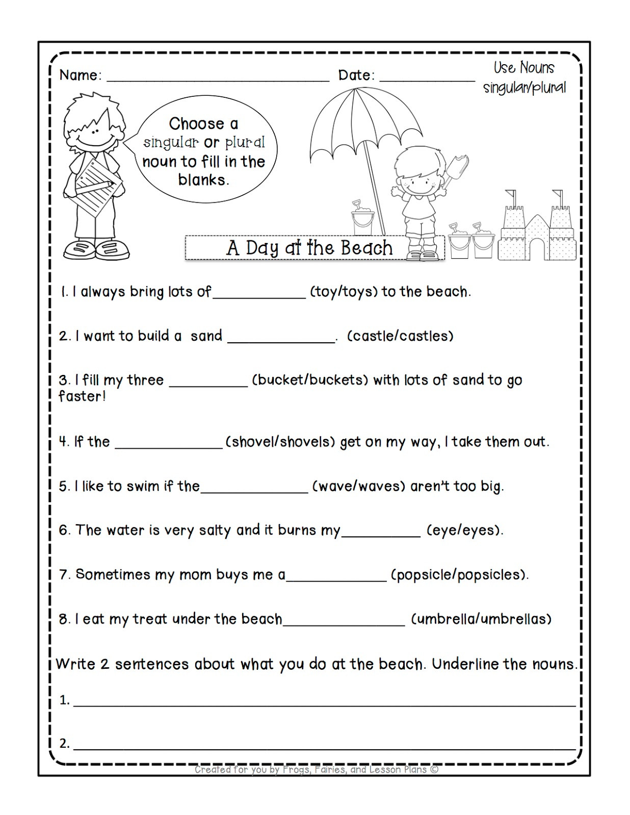 Plurals Worksheet 3rd Grade Frogs Fairies and Lesson Plans Noun Lessons You Need to