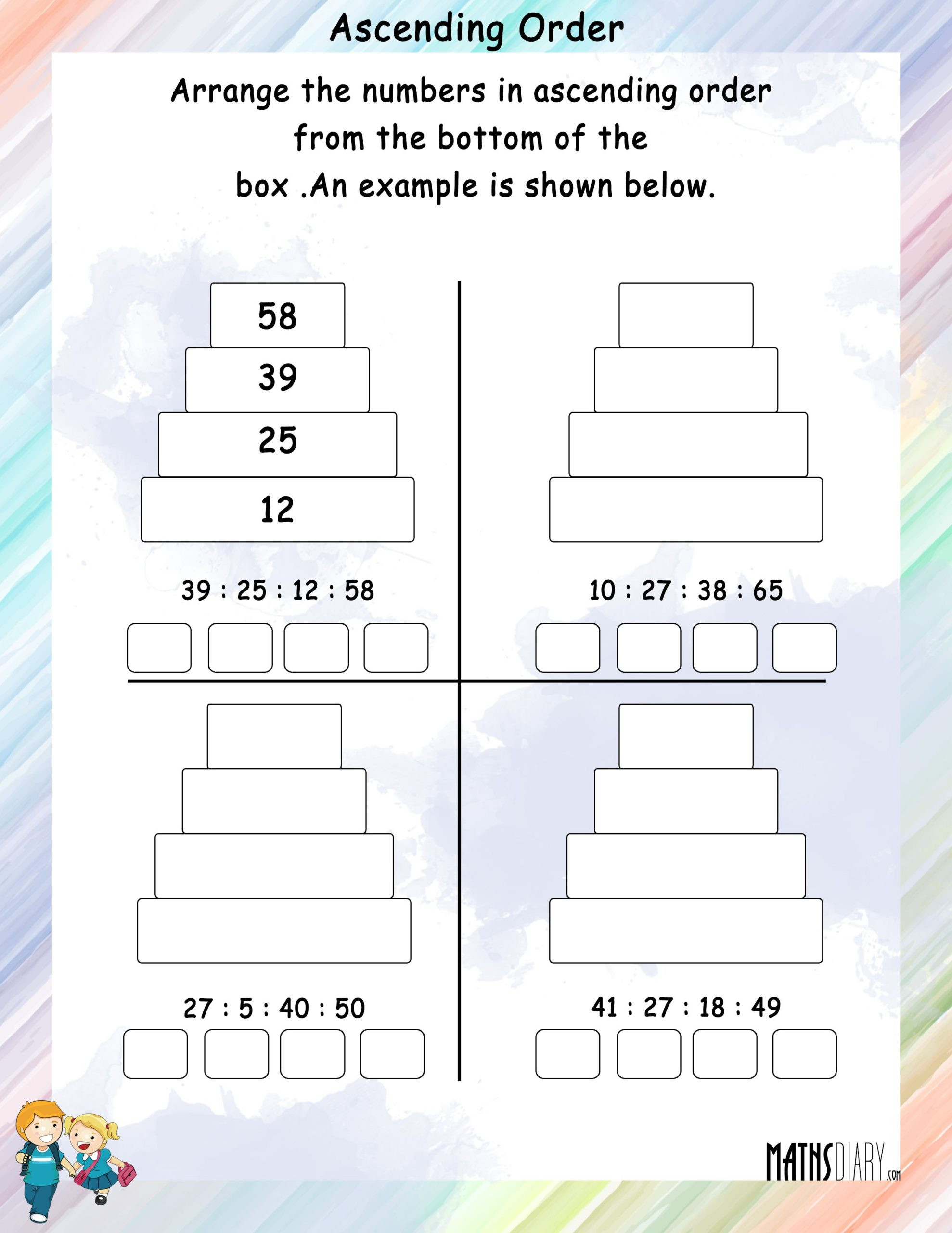 Pokemon Math Worksheets Printable ascending Descending order Grade Math Worksheets and