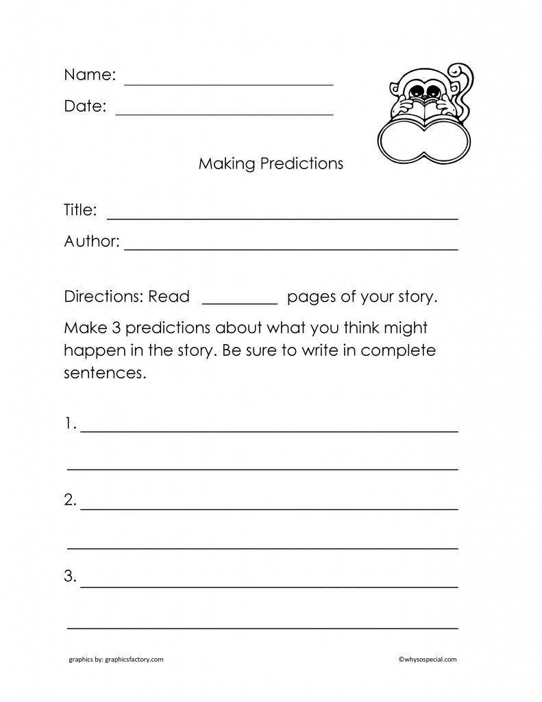 Prediction Worksheets 3rd Grade Freebie Improve Prehension by Making Story Predictions