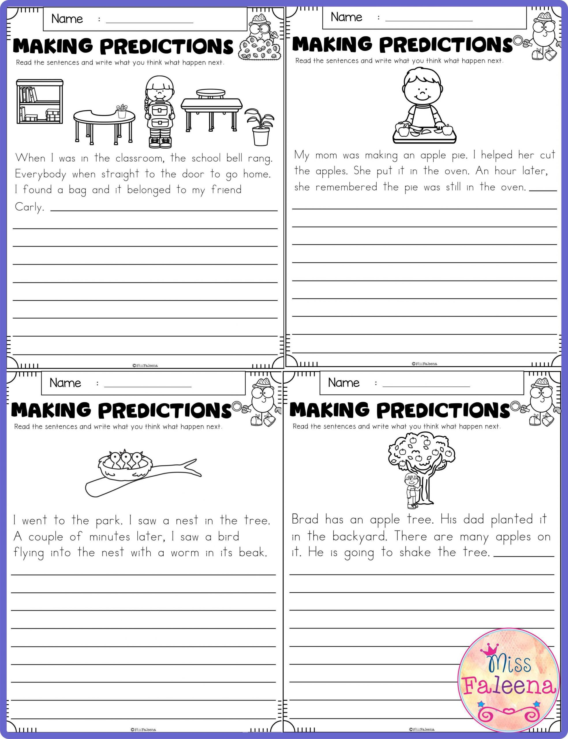 Predictions Worksheets 3rd Grade September Making Predictions In 2020 with Images