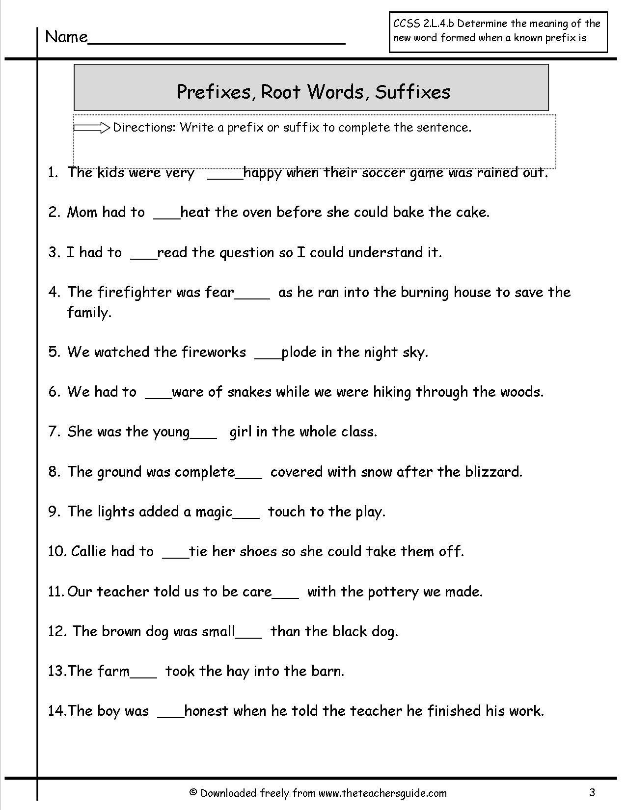 Prefix Suffix Worksheets 3rd Grade Awesome Prefixes and Suffixes Worksheet