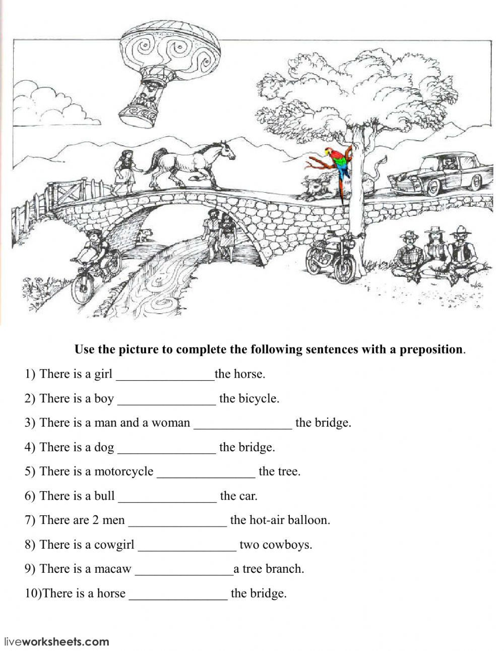 Prepositions Worksheets Middle School Prepositions Of Place Online Exercise and Pdf You Can Do