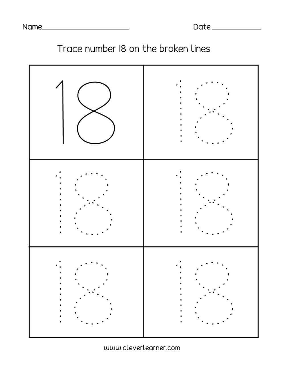 Preschool Number Tracing Worksheet Number Writing Counting and Identification