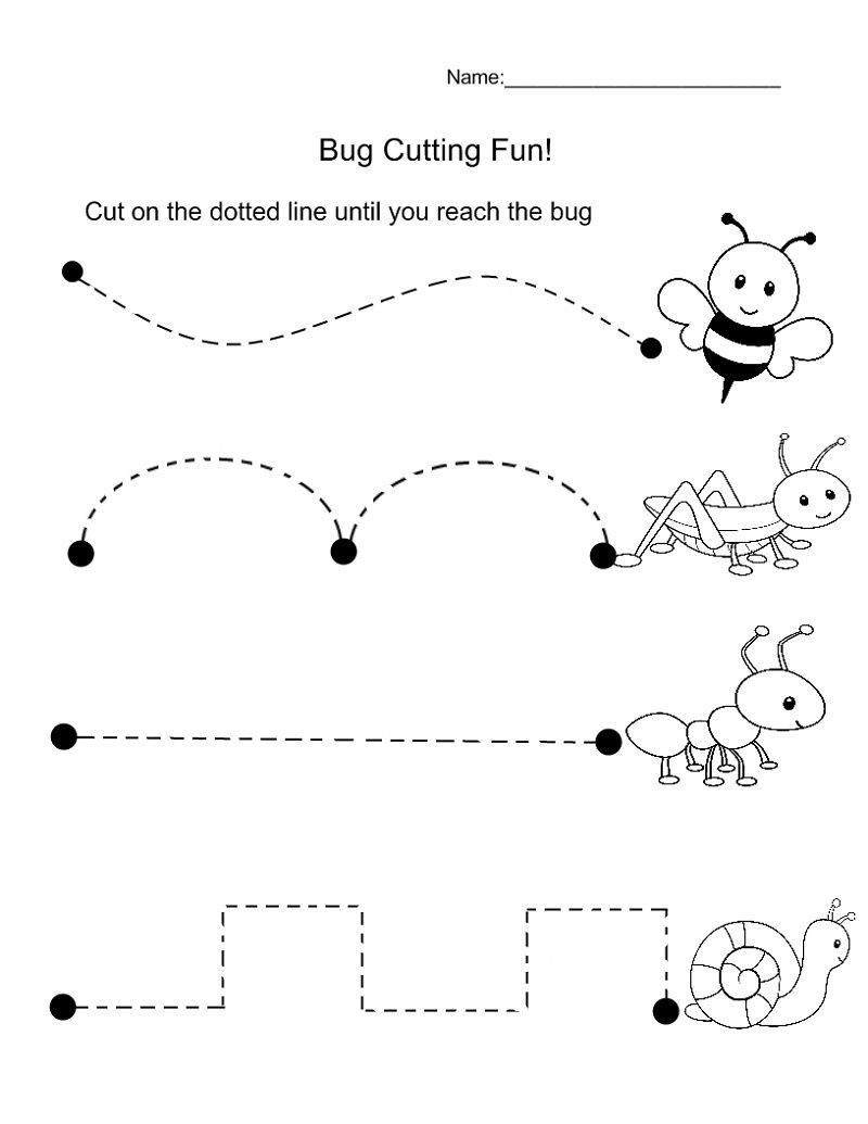 Printable Cutting Worksheets for Preschoolers Pin On Tracing Sheets