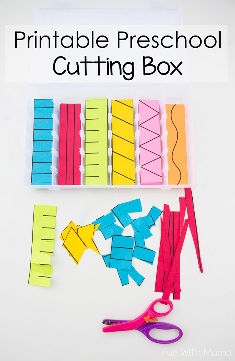 Printable Cutting Worksheets for Preschoolers Printable Preschool Cutting Busy Box Fun with Mama