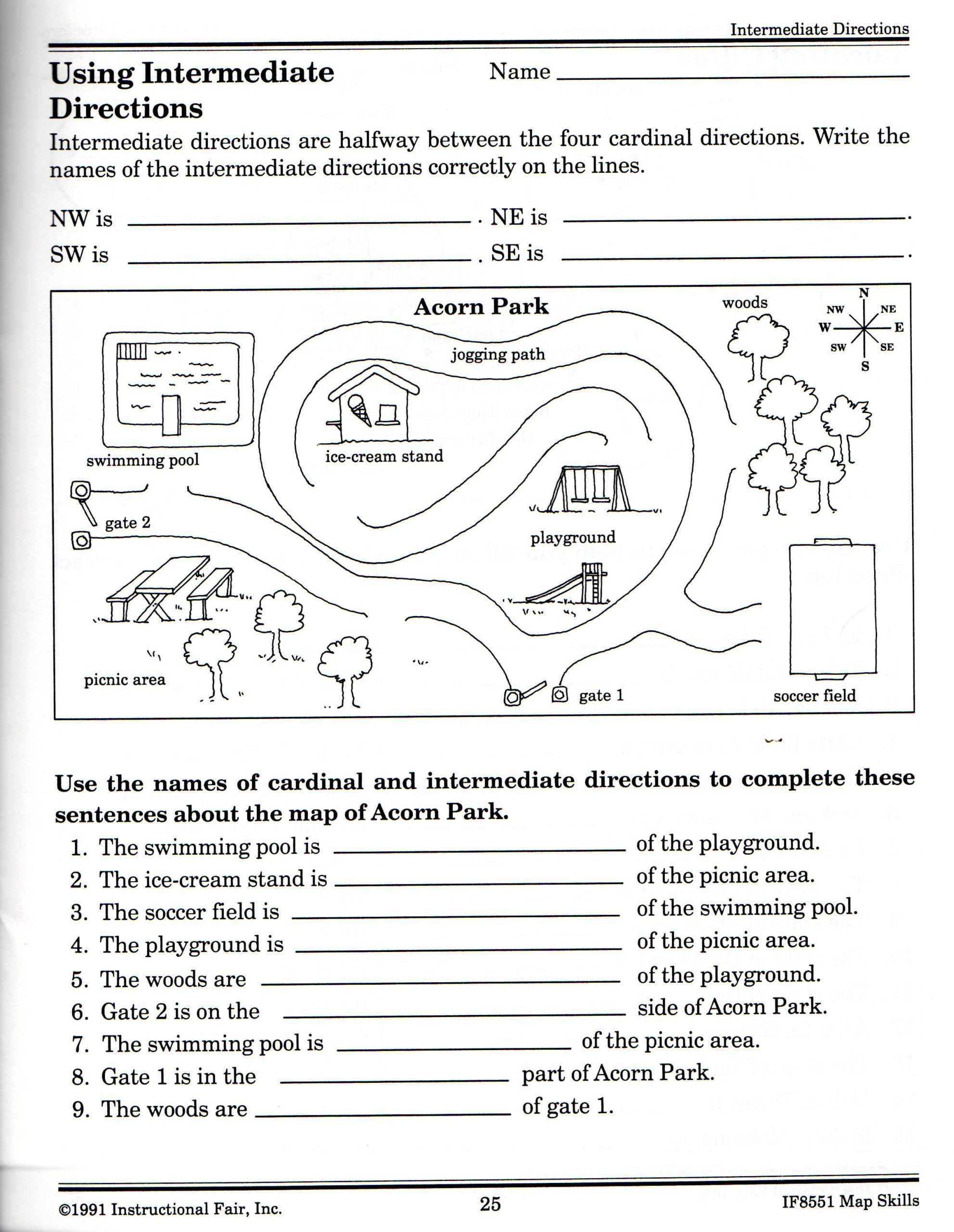 Printable Following Directions Worksheet Mathematics Quiz Questions Page 2 Handwriting Worksheets for