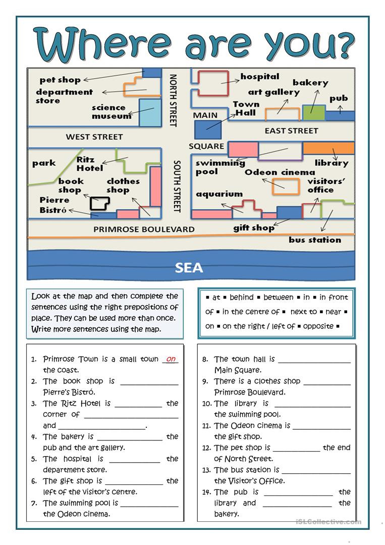 Printable Following Directions Worksheets English Esl Giving Directions Worksheets Most Ed