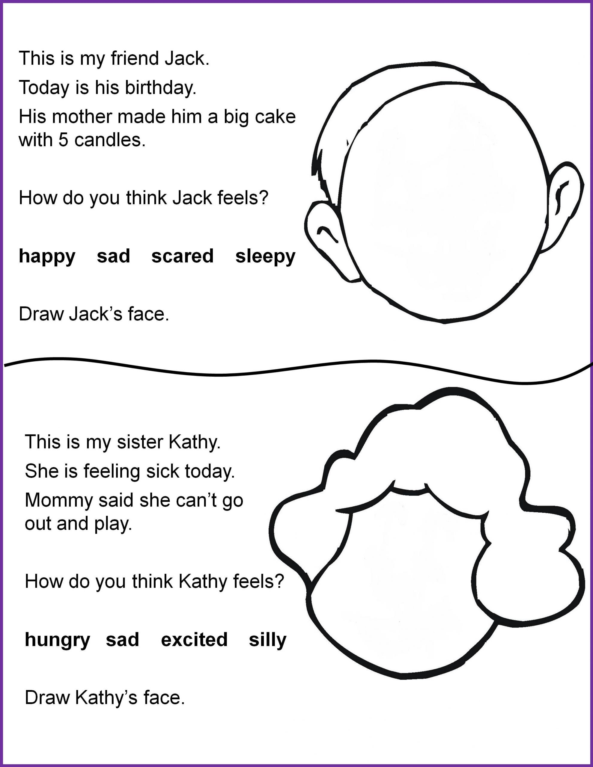 Printable Following Directions Worksheets Reading and Following Directions Worksheets 4