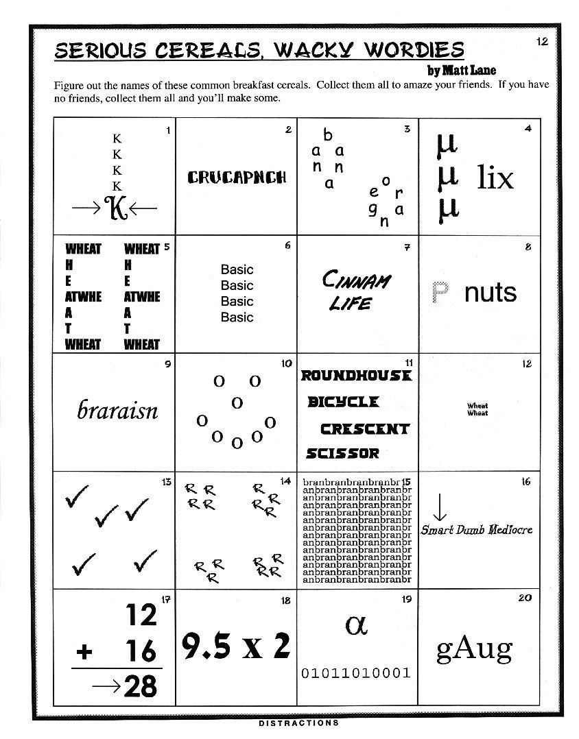 Printable Rebus Brain Teasers Figure It Out
