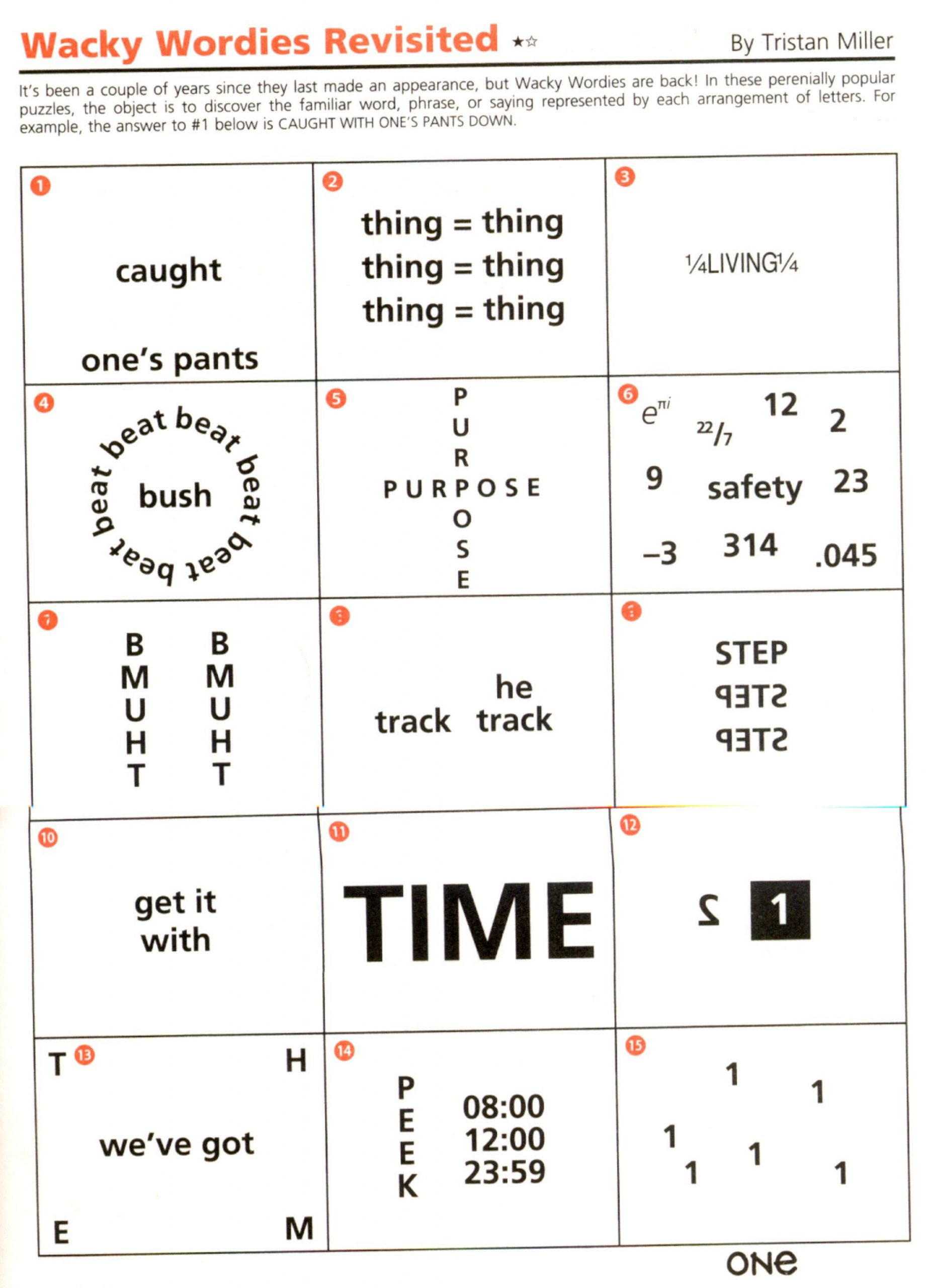 Printable Rebus Puzzles for Kids Rebus Puzzle Brain Teasers Worksheets