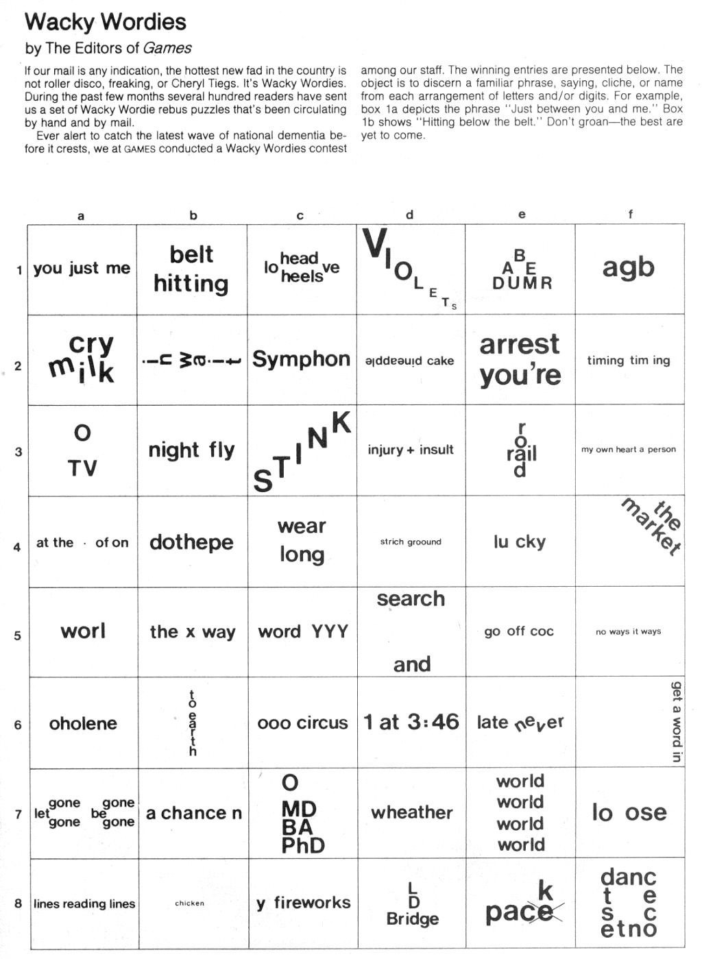 Printable Rebus Puzzles for Kids Word Brain Teasers Worksheets