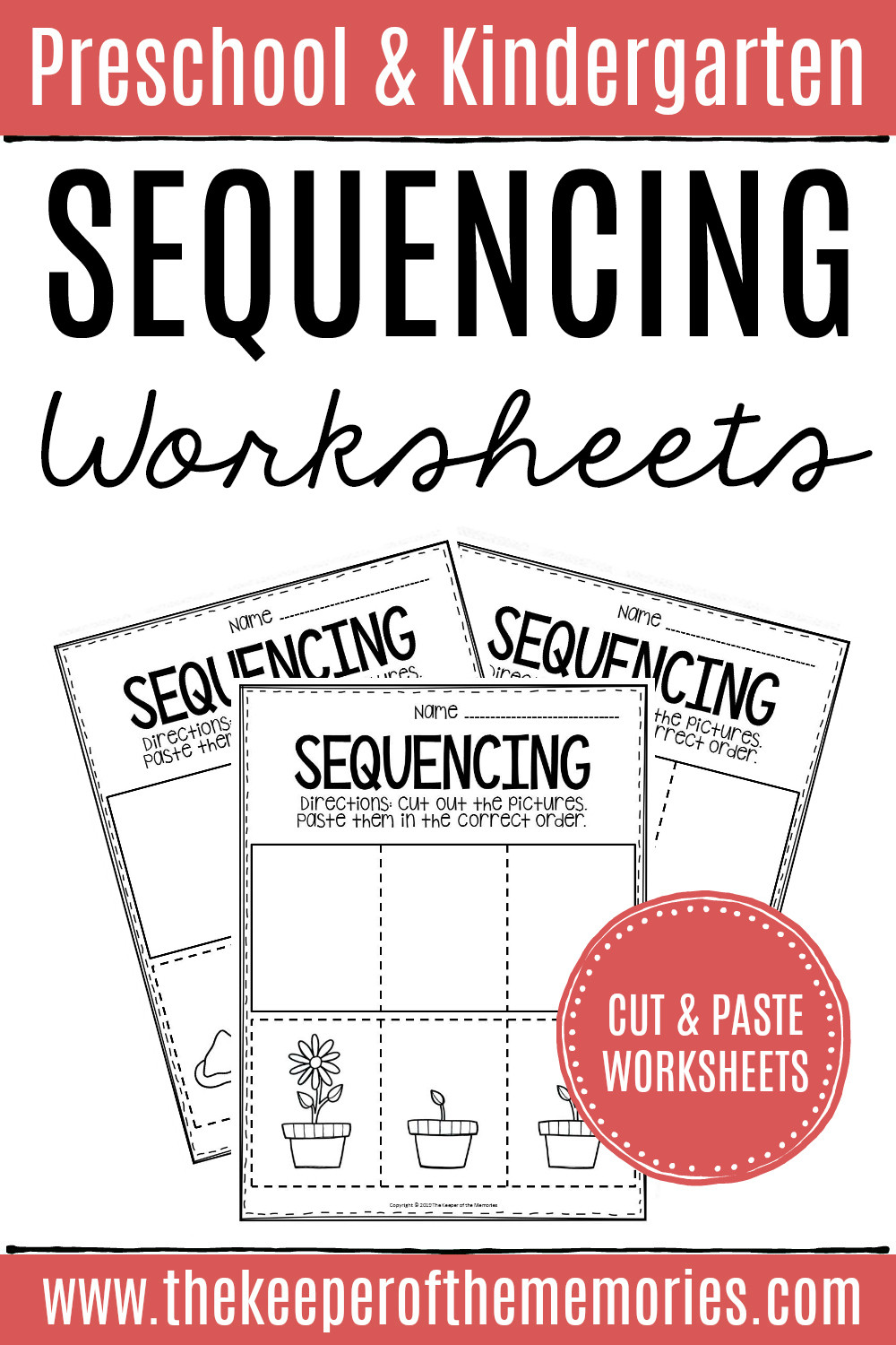 Printable Sequence Worksheets 3 Step Sequencing Worksheets the Keeper Of the Memories