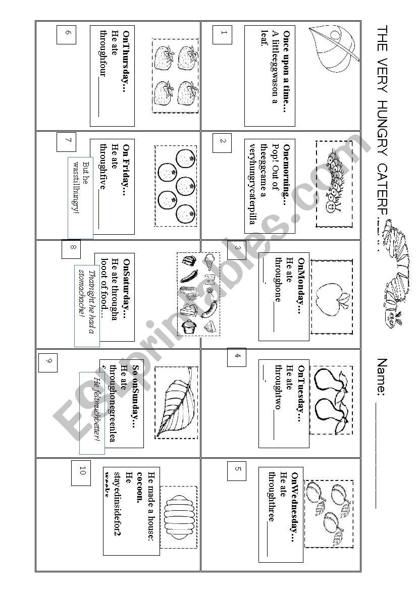 Printable Sequence Worksheets the Very Hungry Caterpillar Story Sequence Esl Worksheet