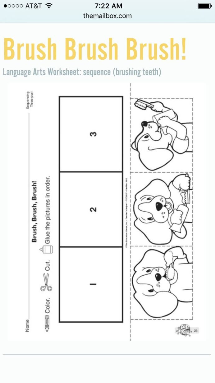 Printable Sequence Worksheets to Brush Your Teeth Sequencing Kindergarten Worksheets Free