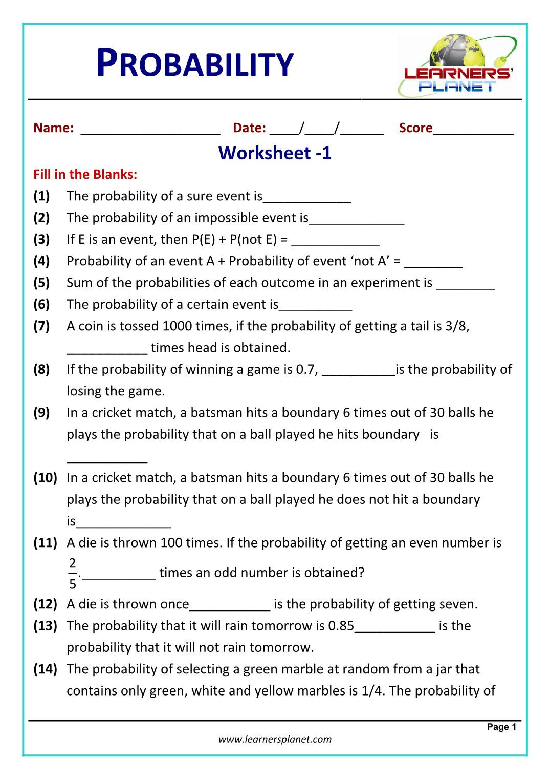 Probability Worksheets High School Pdf Division Games for 2nd Grade Physics Measurements and Units