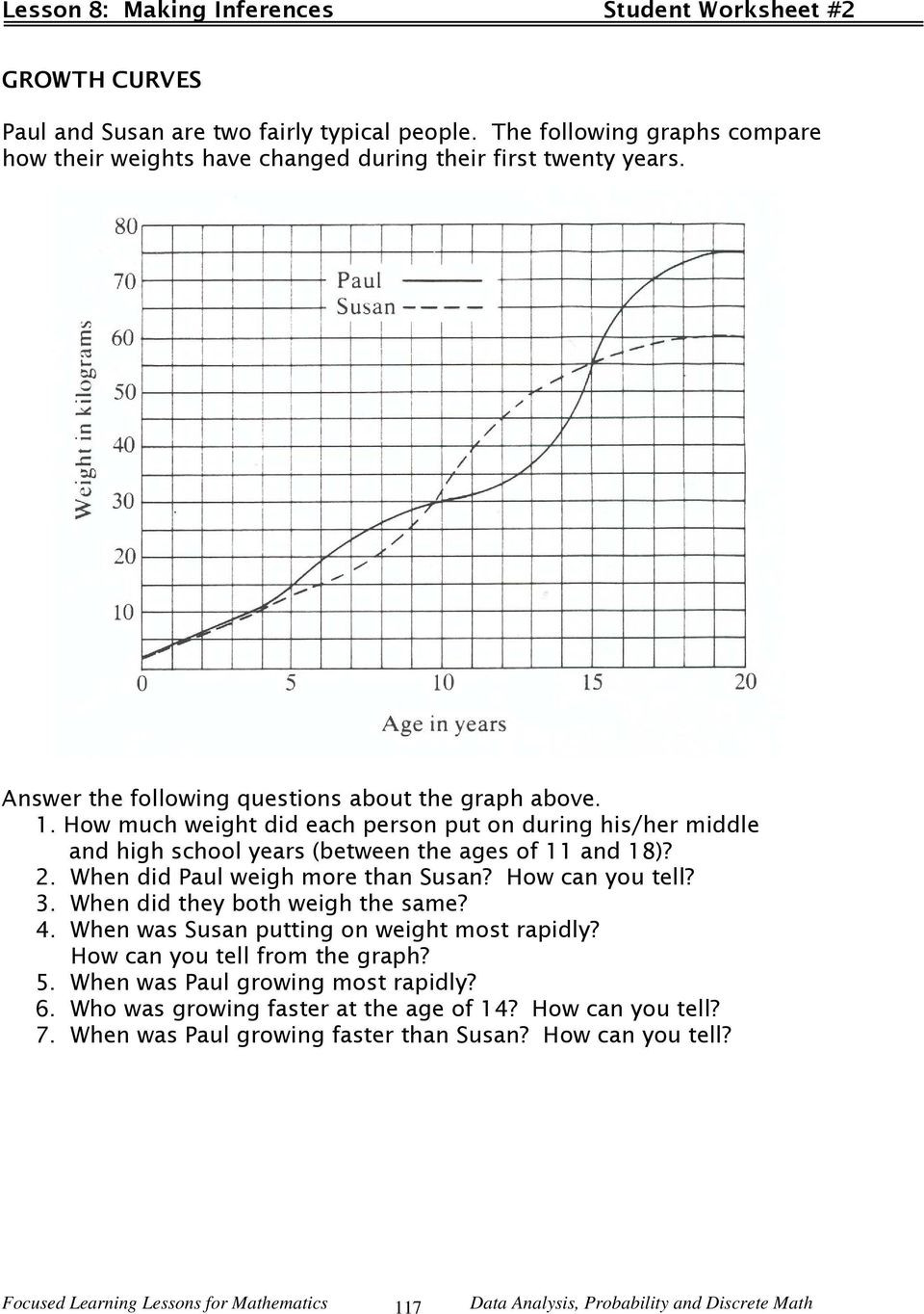 Probability Worksheets High School Pdf Lesson Making Inferences Pdf Free From Graphs Worksheets