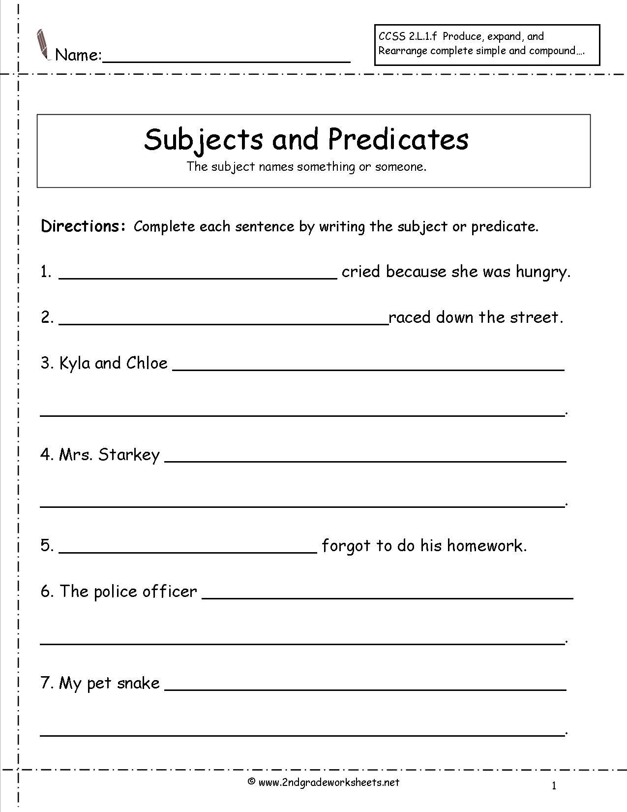 Pronoun Worksheets for 2nd Graders 28 [ Subject Worksheets ]