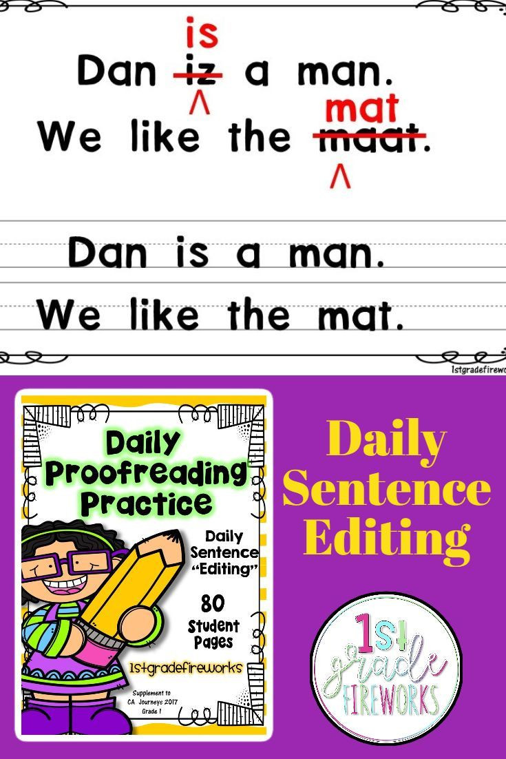 Proofreading Practice Middle School Daily Proofreading Practice Fix It 2