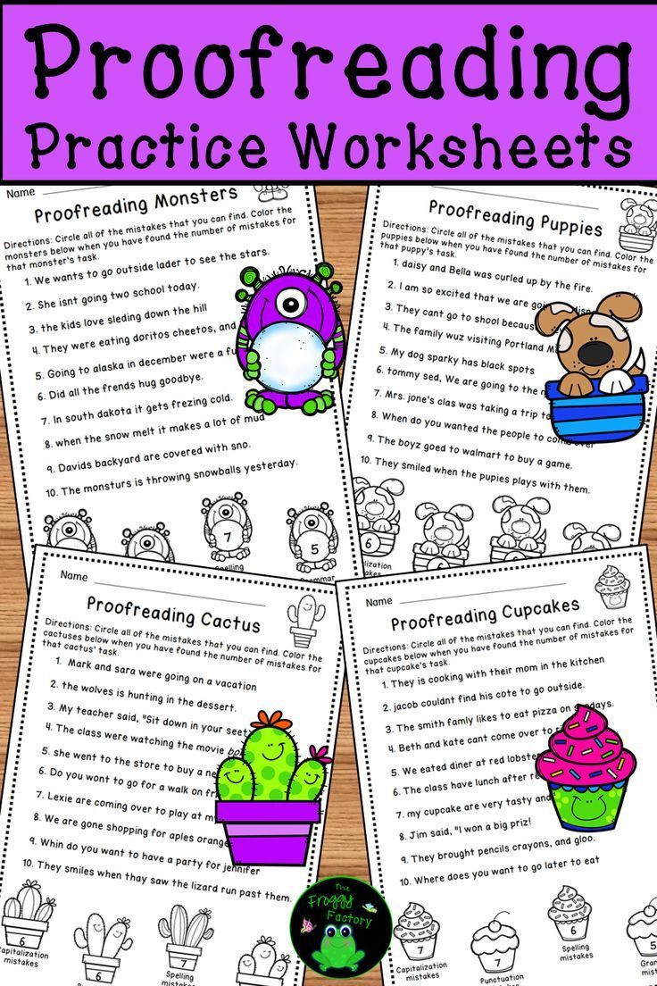 Proofreading Practice Middle School Proofreading Worksheets Editing Practice