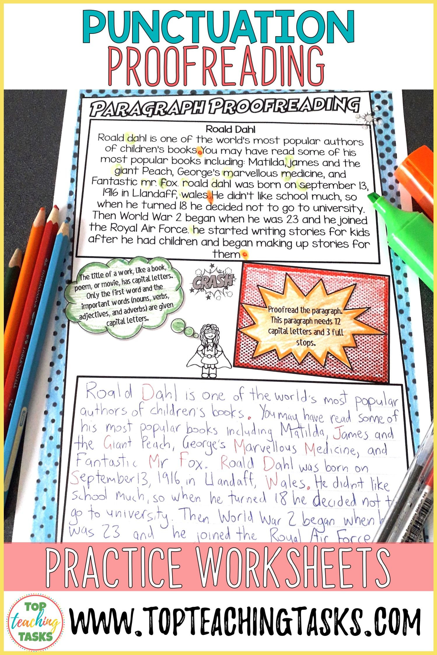 Proofreading Practice Middle School Punctuation Proofreading Practice Activities