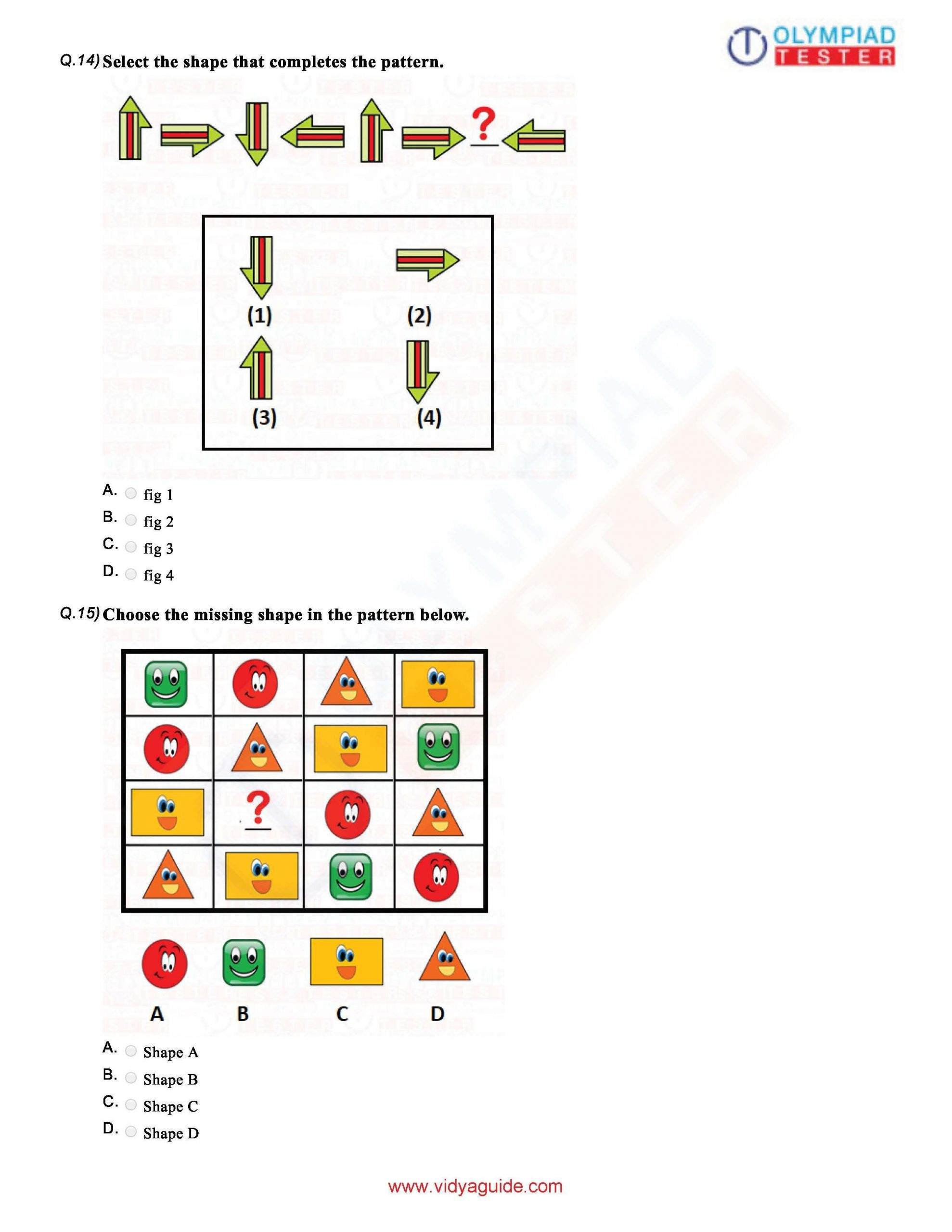 Reasoning Worksheets for Grade 1 Download Grade 1 Maths Olympiad Sample Papers as Pdf