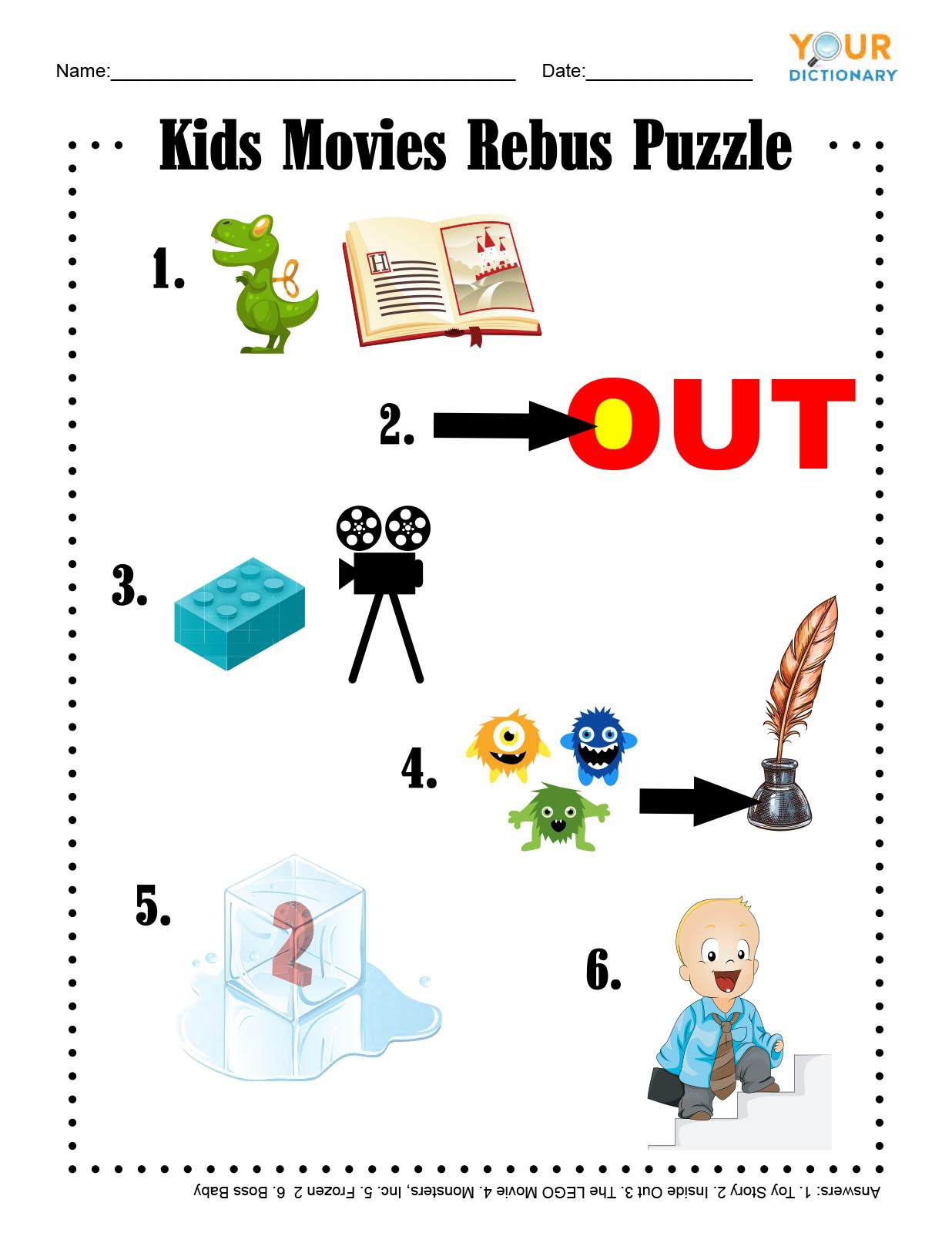 Rebus Puzzles for Middle School Fun & Free Printable Word Games for Kids
