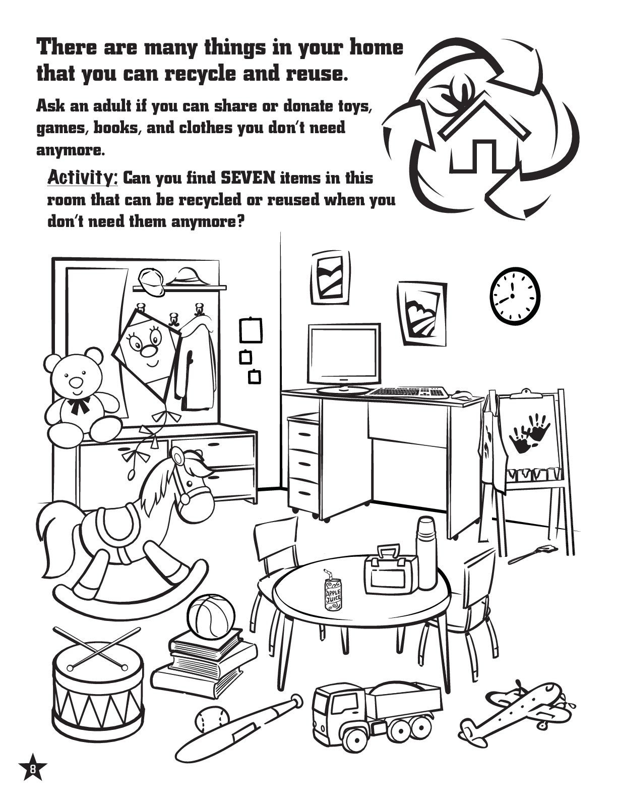 Recycle Worksheets for Preschoolers Activity Page to Teach Kids About Recycling Recycling