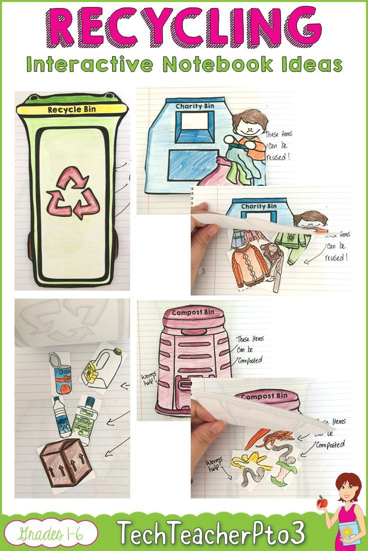 Recycling Worksheets for Middle School Recycling Activities for Kids these Interactive Notebook