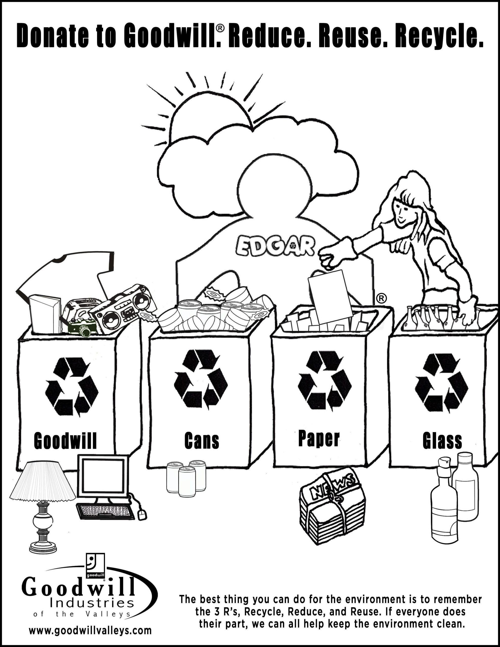 Recycling Worksheets for Middle School Recycling Coloring Pages Coloring Home