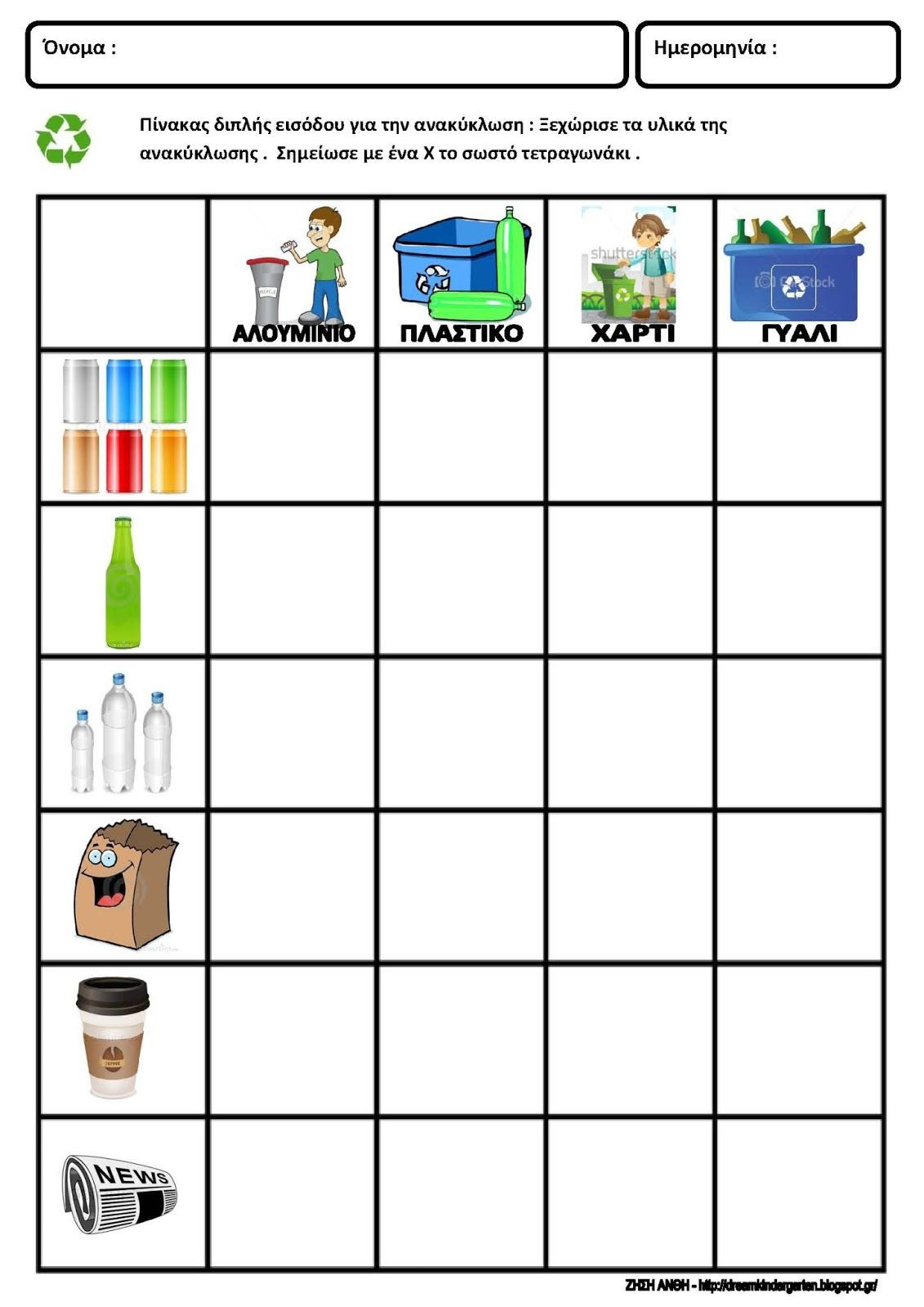 Recycling Worksheets for Middle School Recycling Worksheets Math for Kindergarten
