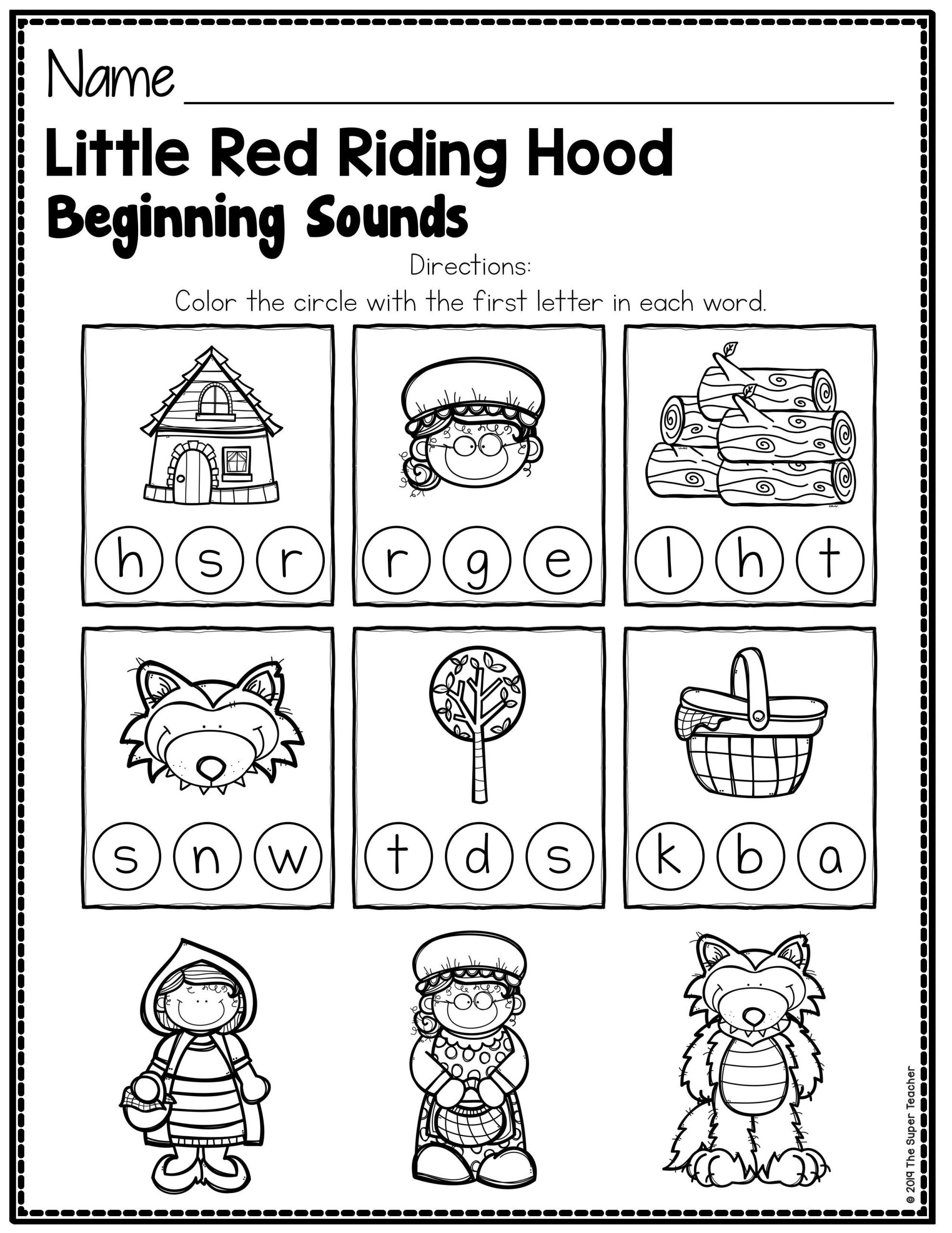 Retell Worksheet First Grade Little Red Riding Hood Story Elements and Story Retelling