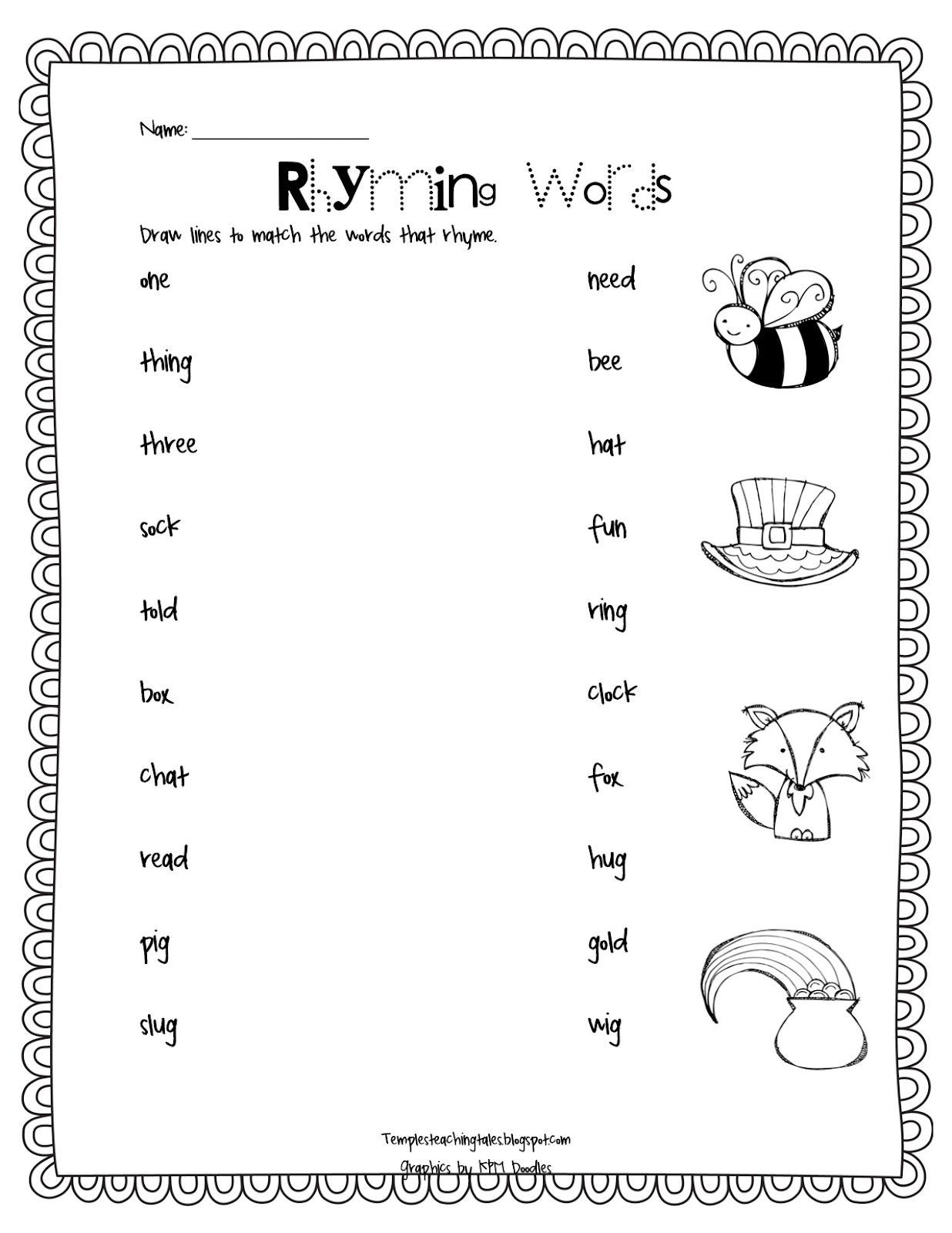 Rhyming Worksheets for Preschoolers the End Of Another Chapter