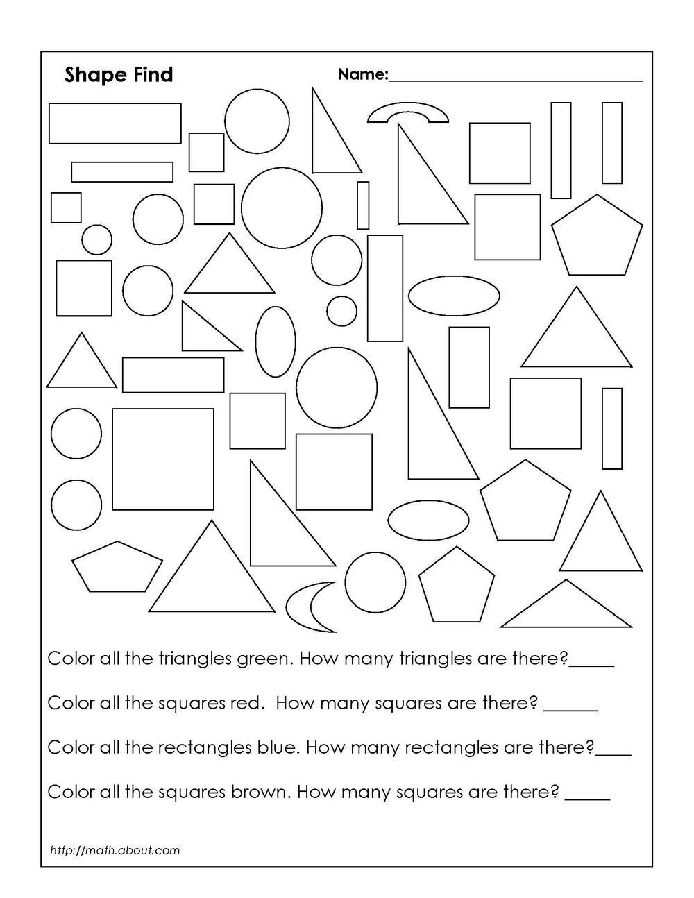 Second Grade Geometry Worksheets 1st Grade Geometry Worksheets for Students