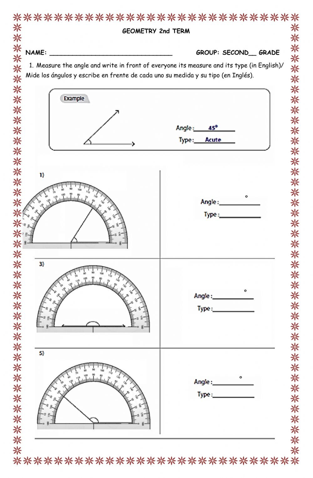 Second Grade Geometry Worksheets Evaluation Second Term Second Grade Geometry Interactive